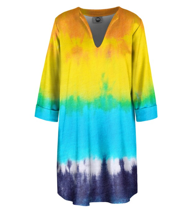 Splashy Tie Dye Shirt dress Miniature 1