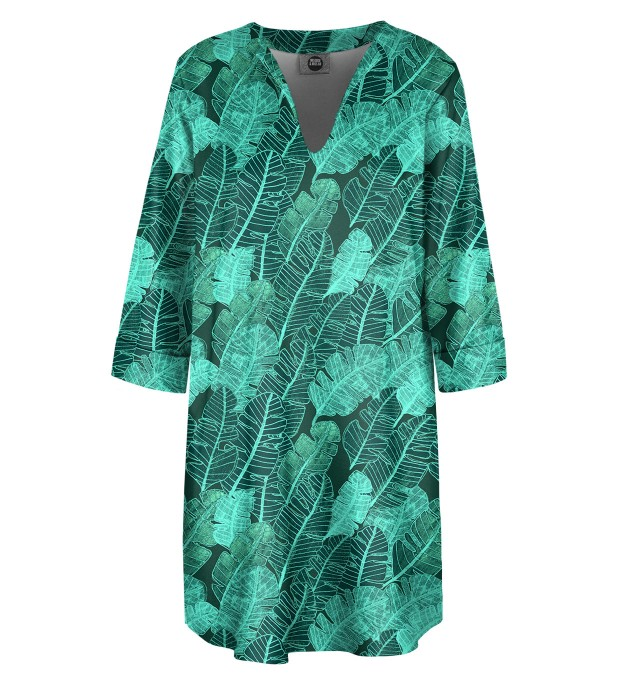 Tropical Leaves Shirt dress Miniature 1