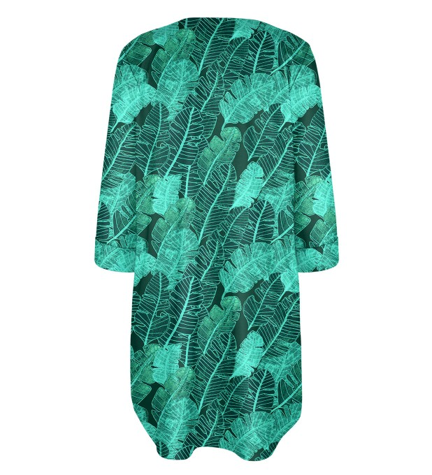 Tropical Leaves Shirt dress Miniature 2