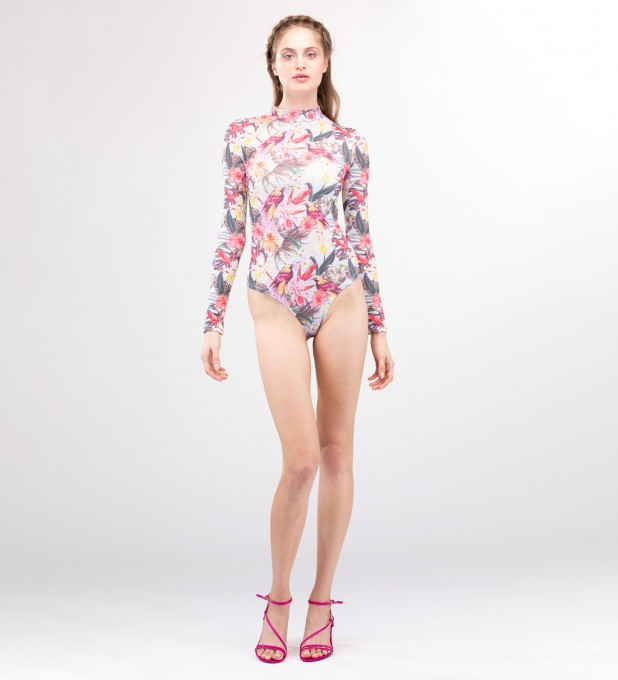 Tropical beauty Turtleneck Bodysuit Miniaturbild 2