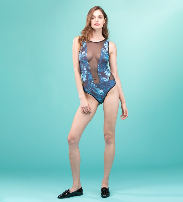 Paradise is here Tulle Mix Bodysuit Miniaturbild 1