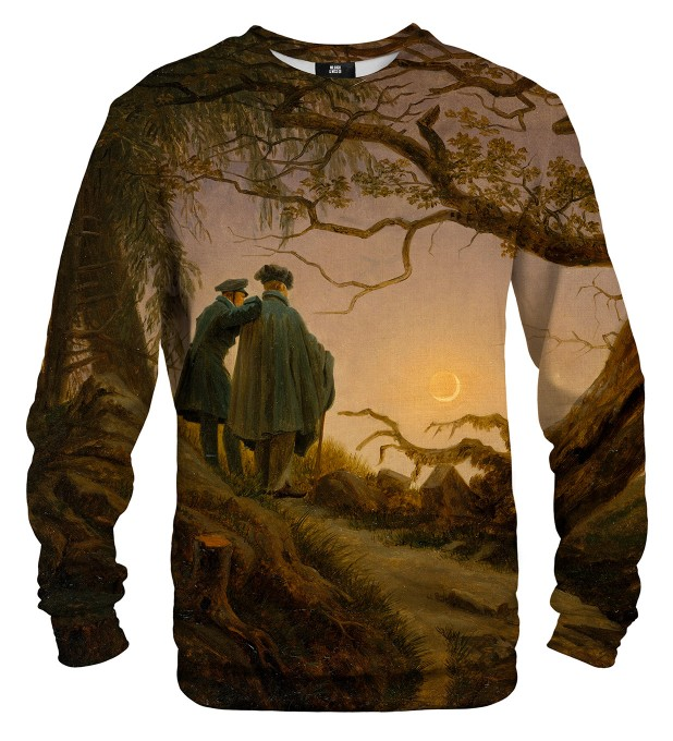 Two Men Contemplating the Moon sweatshirt Miniaturbild 2