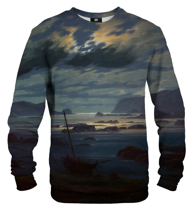 Northern Sea in the Moonlight sweatshirt Miniaturbild 2