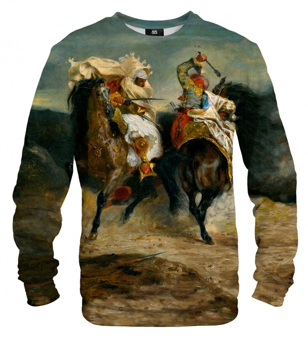 The Combat of the Giaour and Hassan sweater Miniature 1
