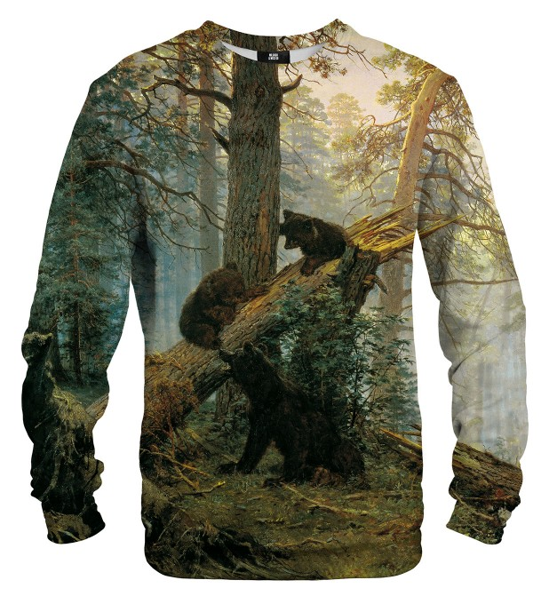 Morning in a Pine Forest sweatshirt Miniaturbild 1