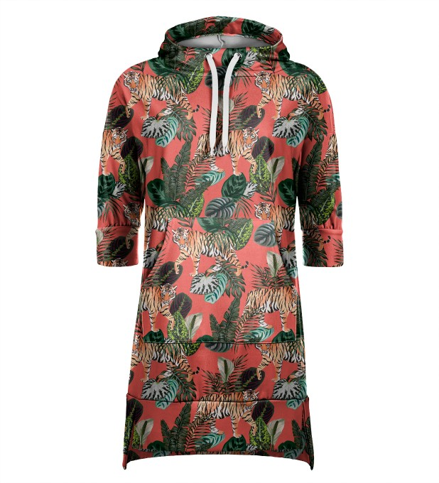 Exotic Tiger hoodie dress Thumbnail 1