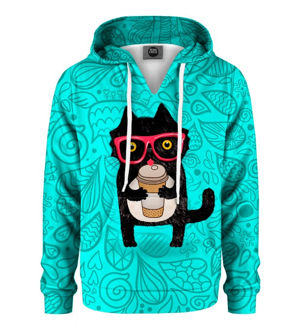 Coffee Cat Kids Hoodie Miniature 1