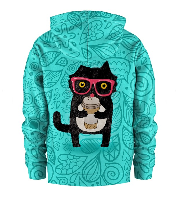 Coffee Cat Kids Hoodie Miniature 2
