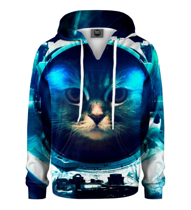 Space Cat Kids Hoodie Miniature 1