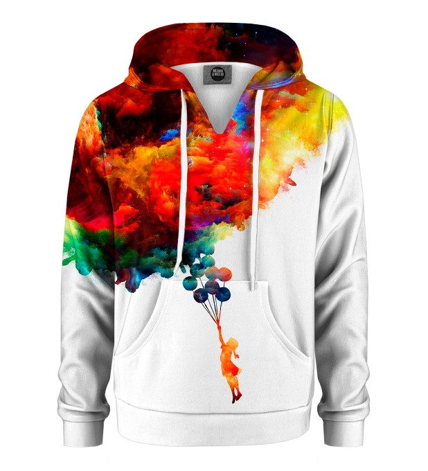 With balloons to galaxy Kids Hoodie Miniature 1