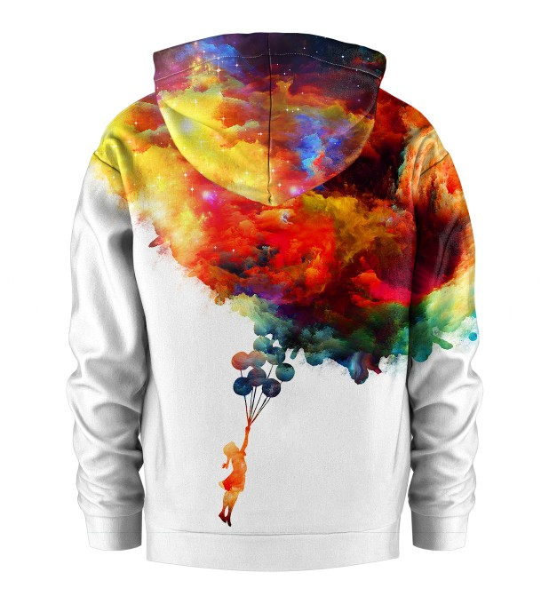 With balloons to galaxy Kids Hoodie Miniature 2