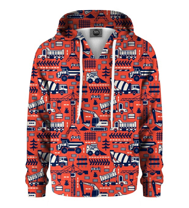 Trucks Orange Pattern Kids Hoodie Miniature 1