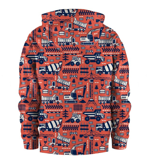 Trucks Orange Pattern Kids Hoodie Miniature 2
