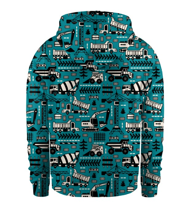 Trucks Green Pattern Kids Hoodie Miniature 2