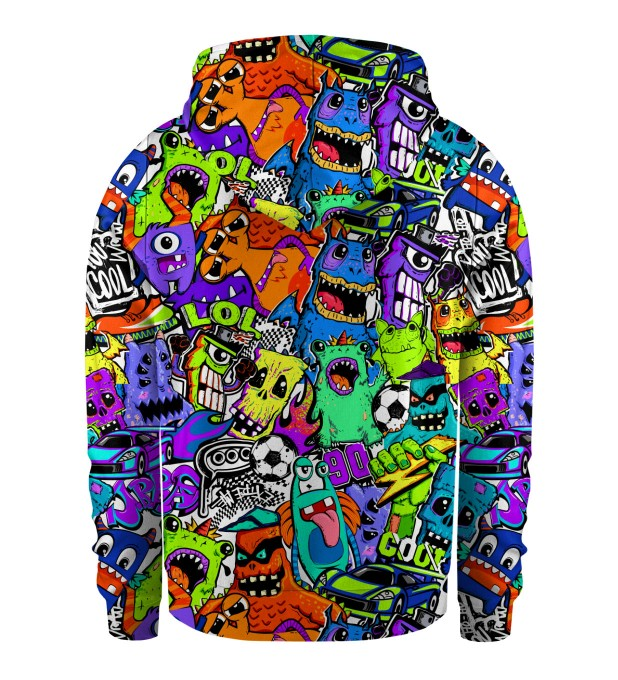 Colorful Monsters Kids Zip Up Hoodie Miniatura 2