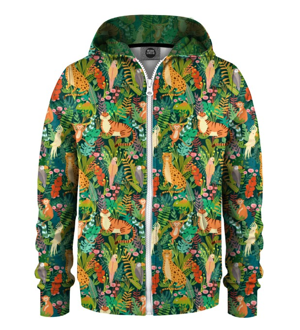 In the Jungle Kids Zip Up Hoodie Miniature 1