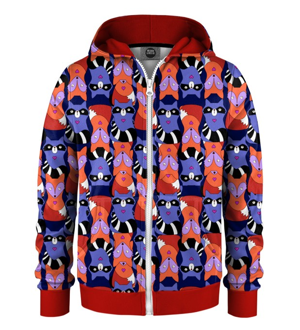 Raccoons'n'foxes Kids Zip Up Hoodie Miniature 1