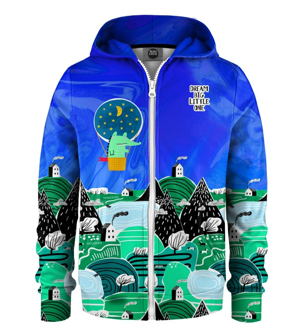 Dream Big Kids Zip Up Hoodie Miniatura 1