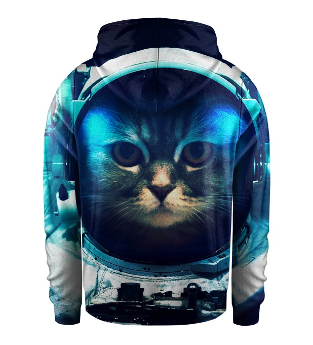 Space Cat Kids Zip Up Hoodie Miniature 2