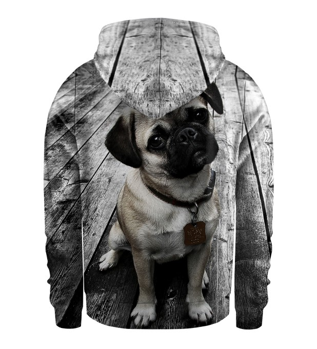 Pug Kids Zip Up Hoodie Miniature 2