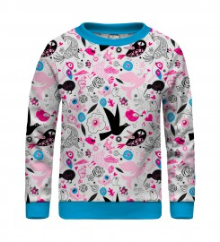 Mr. Gugu & Miss Go, Sweet Birds sweater for kids Miniature $i