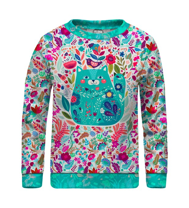Flower Cat sweater for kids Miniature 1
