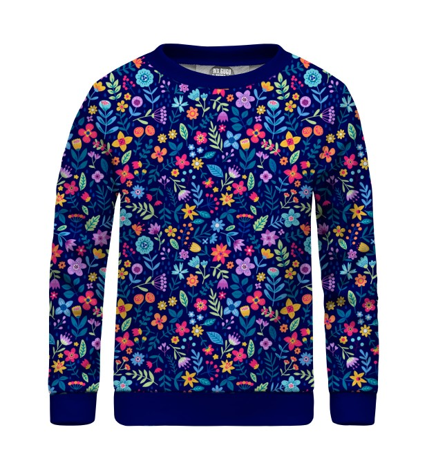Midnight Flowers sweater for kids Miniature 1