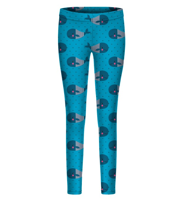 Whales Pattern leggings for kids Thumbnail 1