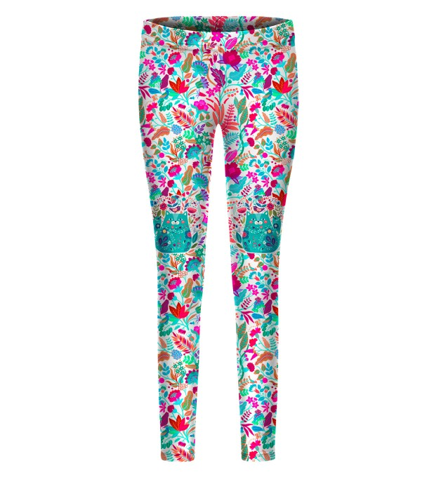 Flower Cat leggings for kids Thumbnail 1
