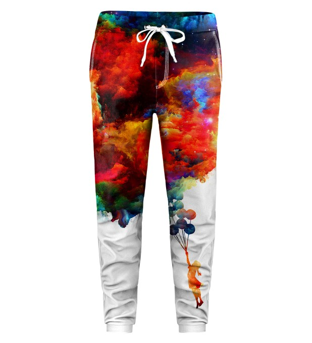 With balloons to galaxy Kids Sweatpants Miniatura 1