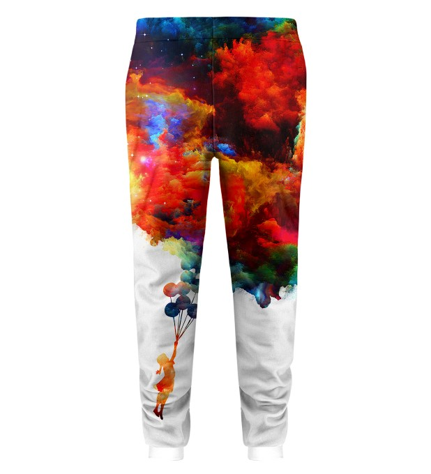 With balloons to galaxy Kids Sweatpants Miniatura 2
