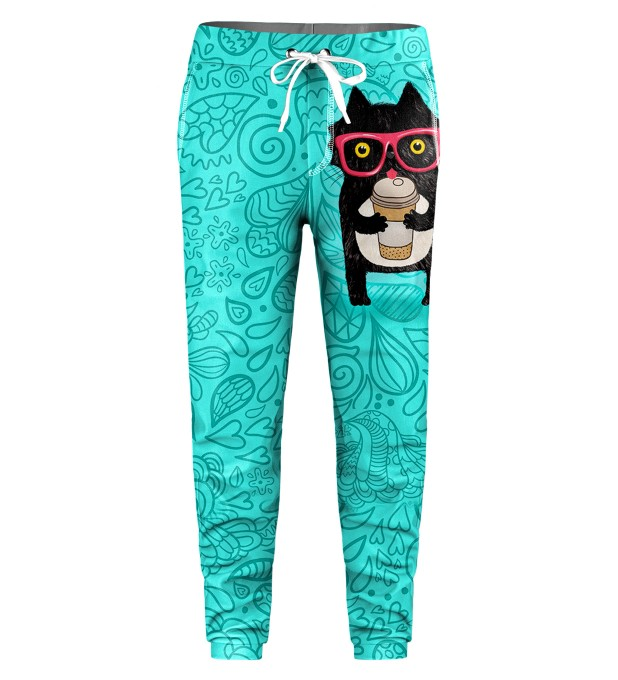 Coffee Cat Kids Sweatpants Miniatura 1