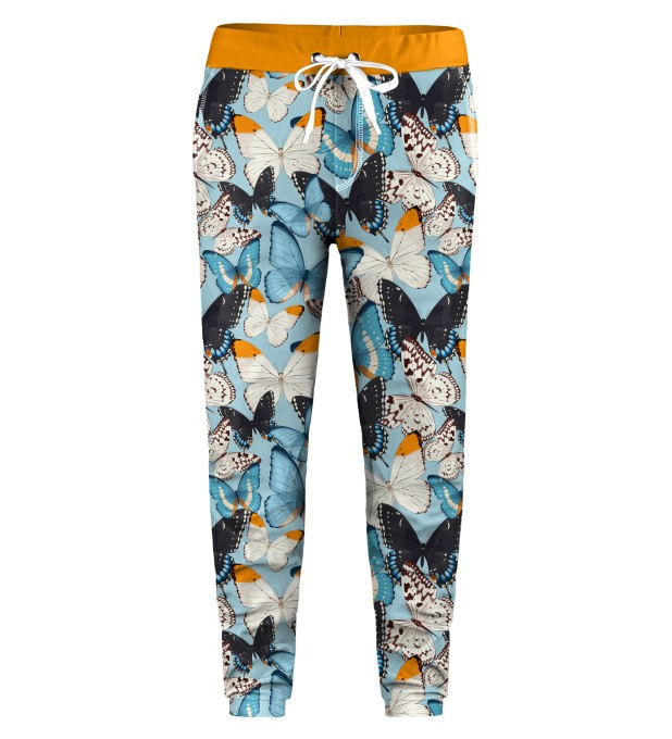 Blue Butterflies Kids Sweatpants Miniature 1