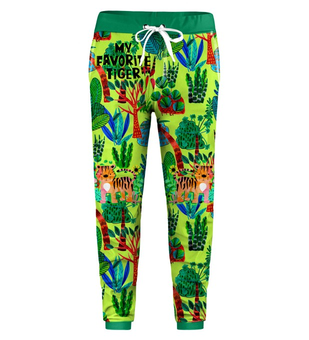 Cartoon Tiger Kids Sweatpants Thumbnail 1