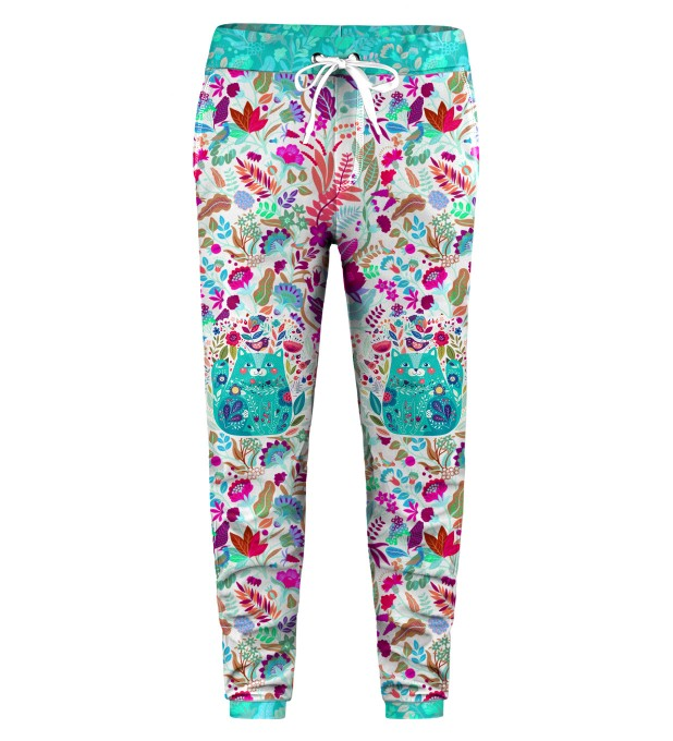 Flower Cat Kids Sweatpants Miniatura 1