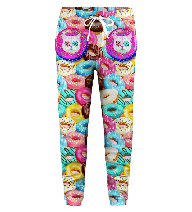 Donut Cat Kids Sweatpants Miniature 1