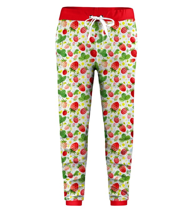 Strawberries Pattern Kids Sweatpants Thumbnail 1