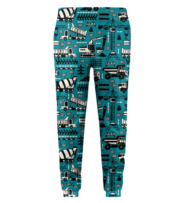 Trucks Green Pattern Kids Sweatpants Thumbnail 2