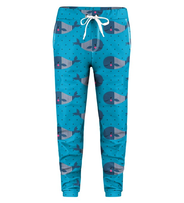 Whales Pattern Kids Sweatpants Thumbnail 1