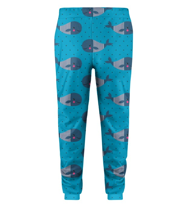 Whales Pattern Kids Sweatpants Miniatura 2