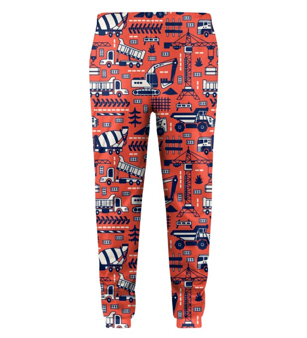 Trucks Orange Pattern Kids Sweatpants Thumbnail 2