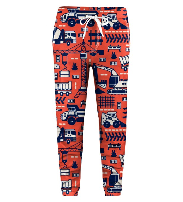 Trucks Orange Pattern Kids Sweatpants Thumbnail 1