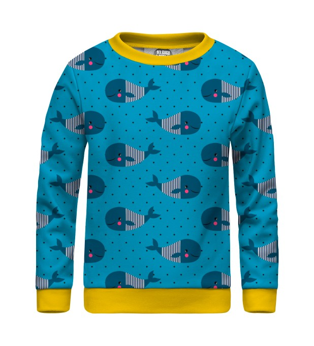 Whales Pattern sweater for kids Thumbnail 1