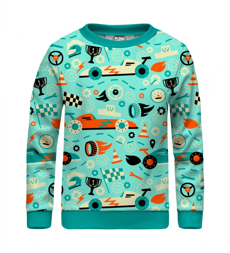 Mr. Gugu & Miss Go, Racing F-1 sweater for kids Image $i