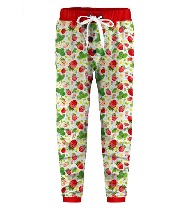 Strawberries Pattern Kids Joggers Miniature 1