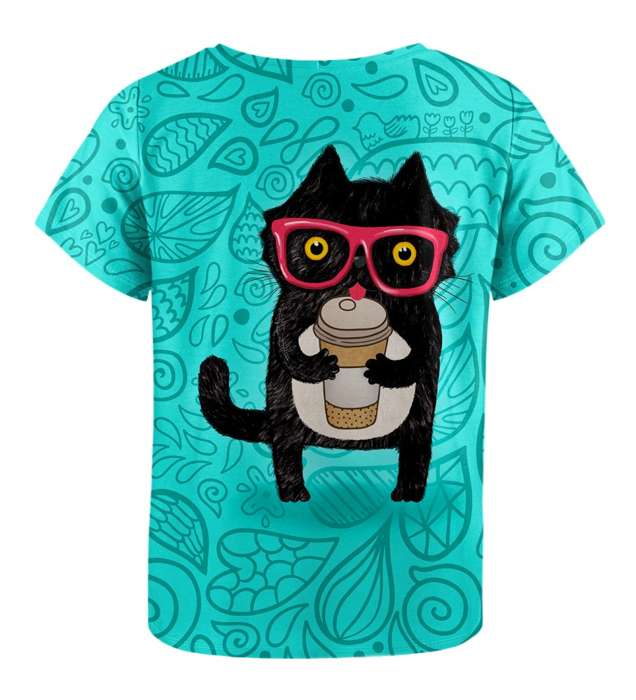 Mr. Gugu & Miss Go, Coffee Cat t-shirt for kids Image $i