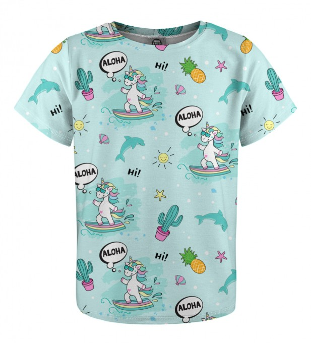 Surfing Unicorn t-shirt for kids Miniatura 1