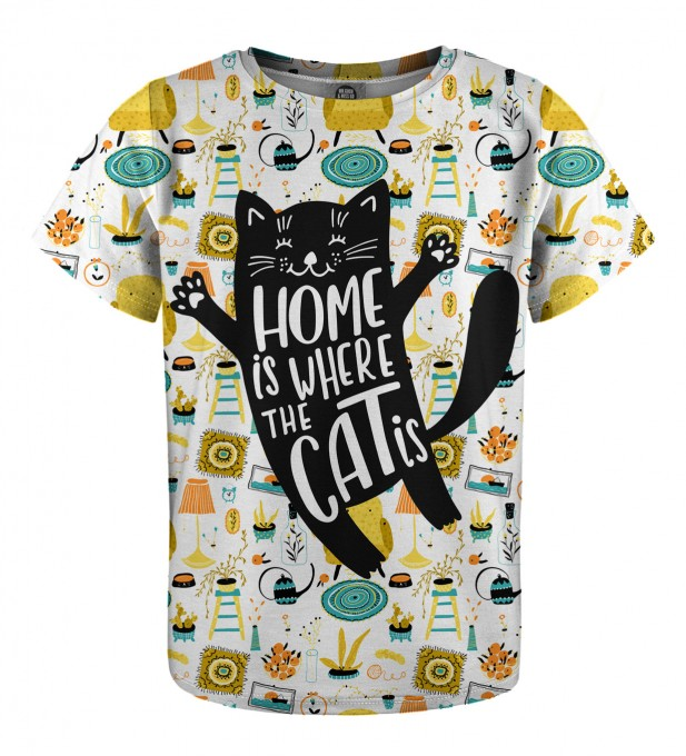 Home Cat t-shirt for kids Miniature 1