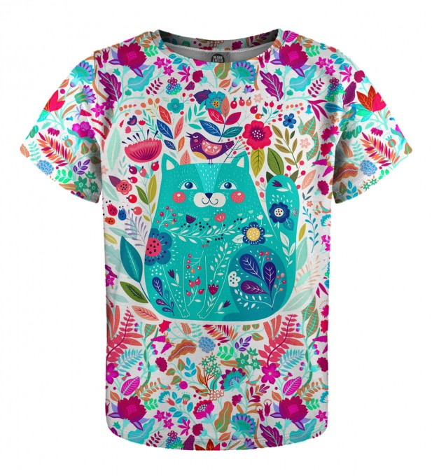 Flower Cat t-shirt for kids Miniatura 1