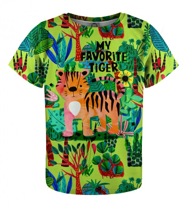 Cartoon Tiger t-shirt for kids Miniature 1